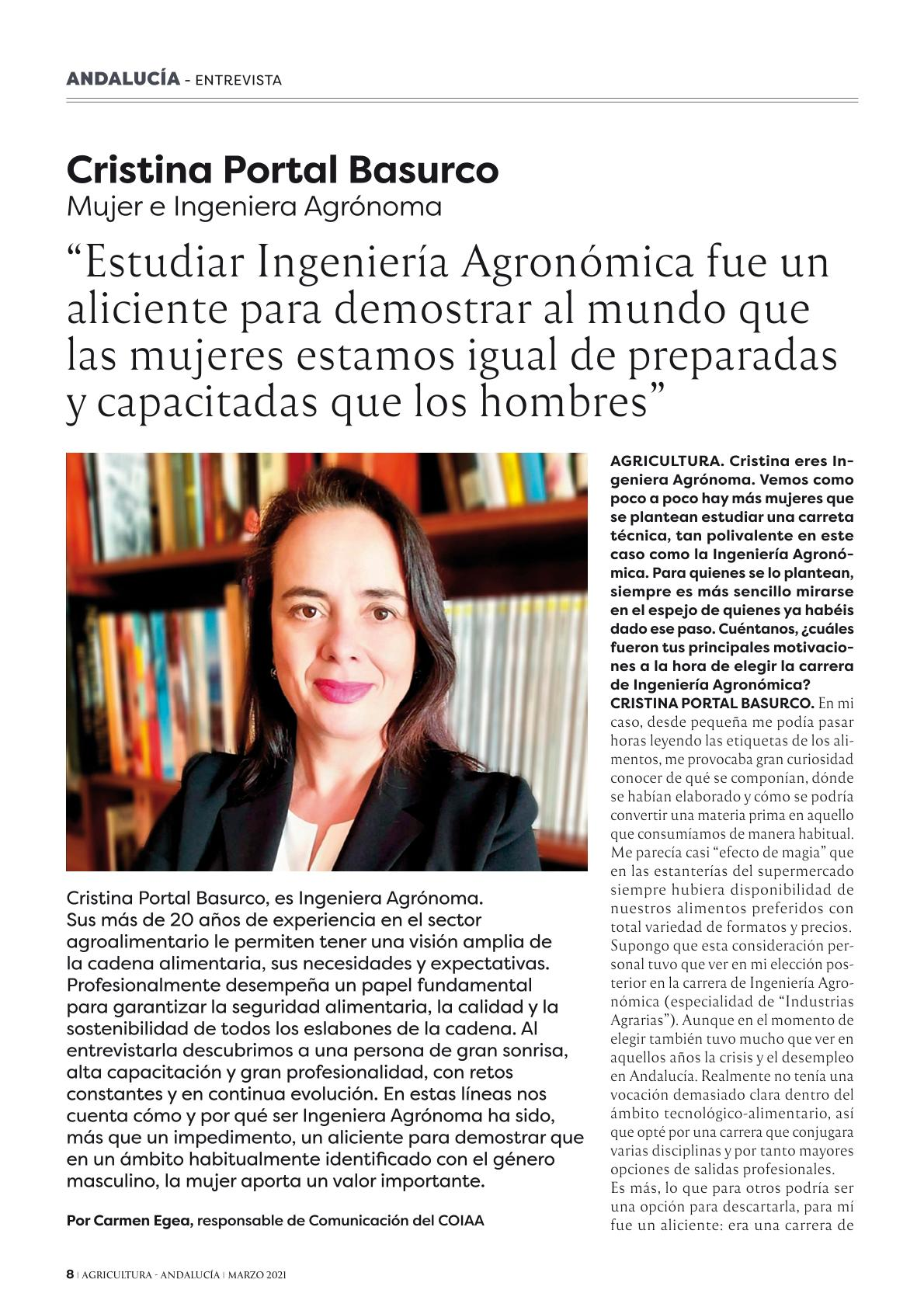 Entrevista Cristina Portal Basurco COIAA