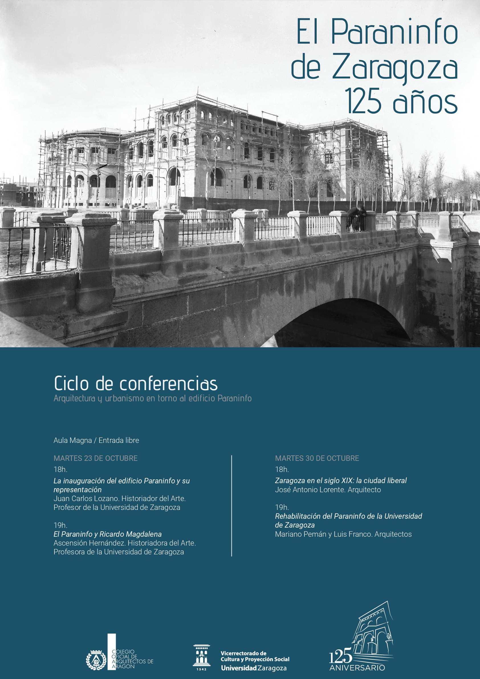 """Imagen del evento Ciclo de Conferencias """"Arquitectura y urbanismo en torno al edificio Paraninfo"""""""