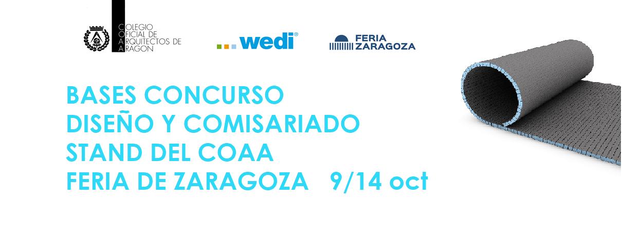 Bases Concurso Diseño y Comisariado Stand COAA en Feria de Zaragoza 2018