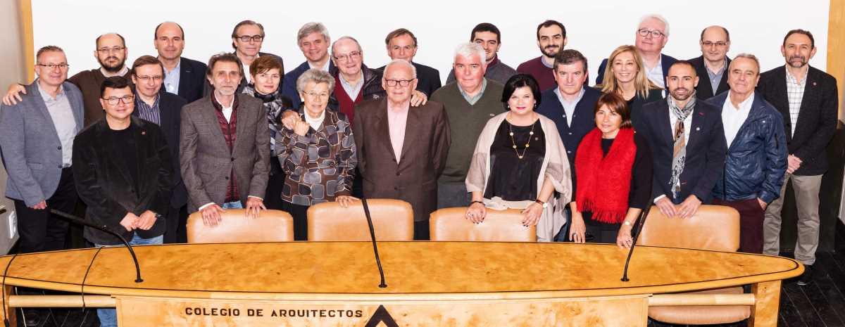 Homenaje a los colegiados que cumplen 25 ó 50 años de colegiación en el COAA