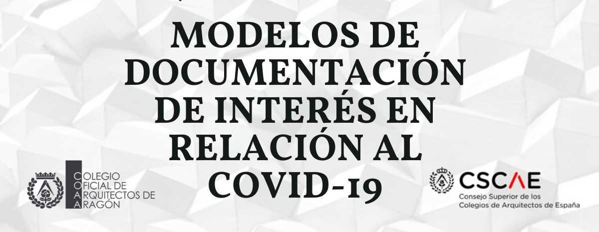 Modelos de documentación de interés en relación al COVID-19