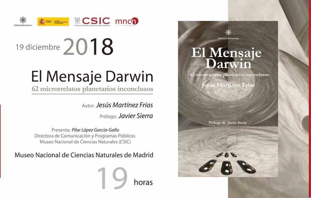 Imagen del evento El Mensaje Darwin   62 microrrelatos planetarios inconclusos