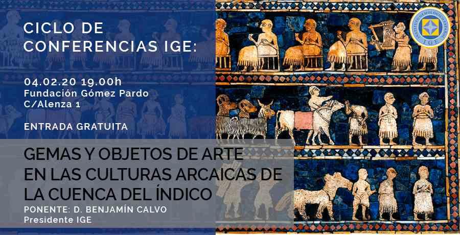 Imagen del evento GEMAS Y OBJETOS DE ARTE EN LAS CULTURAS ARCAICAS DE LA CUENCA DEL ÍNDICO
