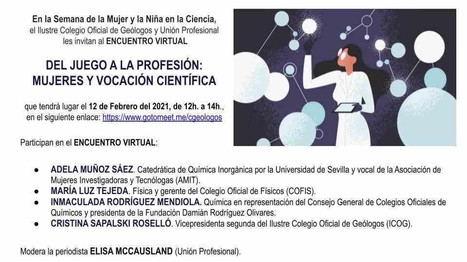 Imagen del evento DEL JUEGO A LA PROFESIÓN: MUJERES Y VOCACIÓN CIENTÍFICA