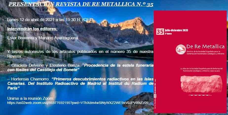 Imagen del evento PRESENTACIÓN REVISTA DE RE METALLICA N.º 35