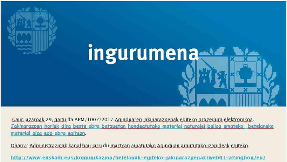 Procedimiento electrónico en gestión de tierras Lan kudeaketan prozedura elektronikoa
