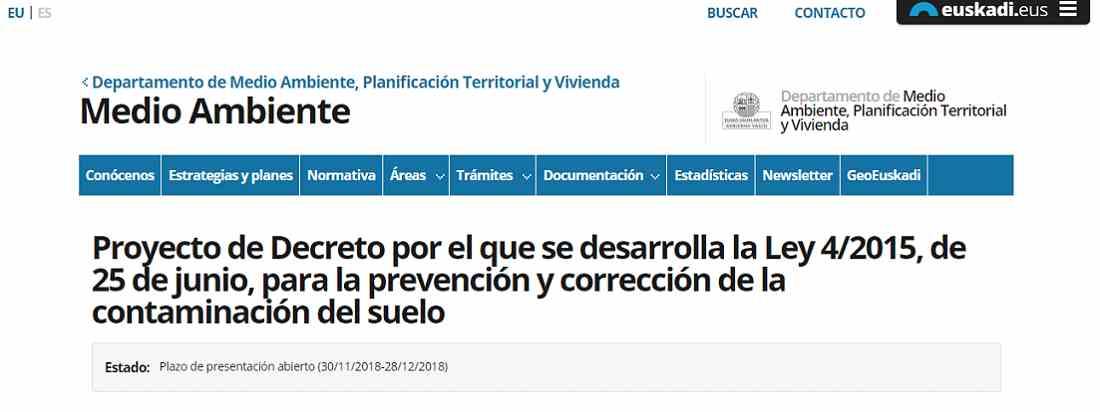 PROYECTO DECRETO SUELOS CONTAMINADOS