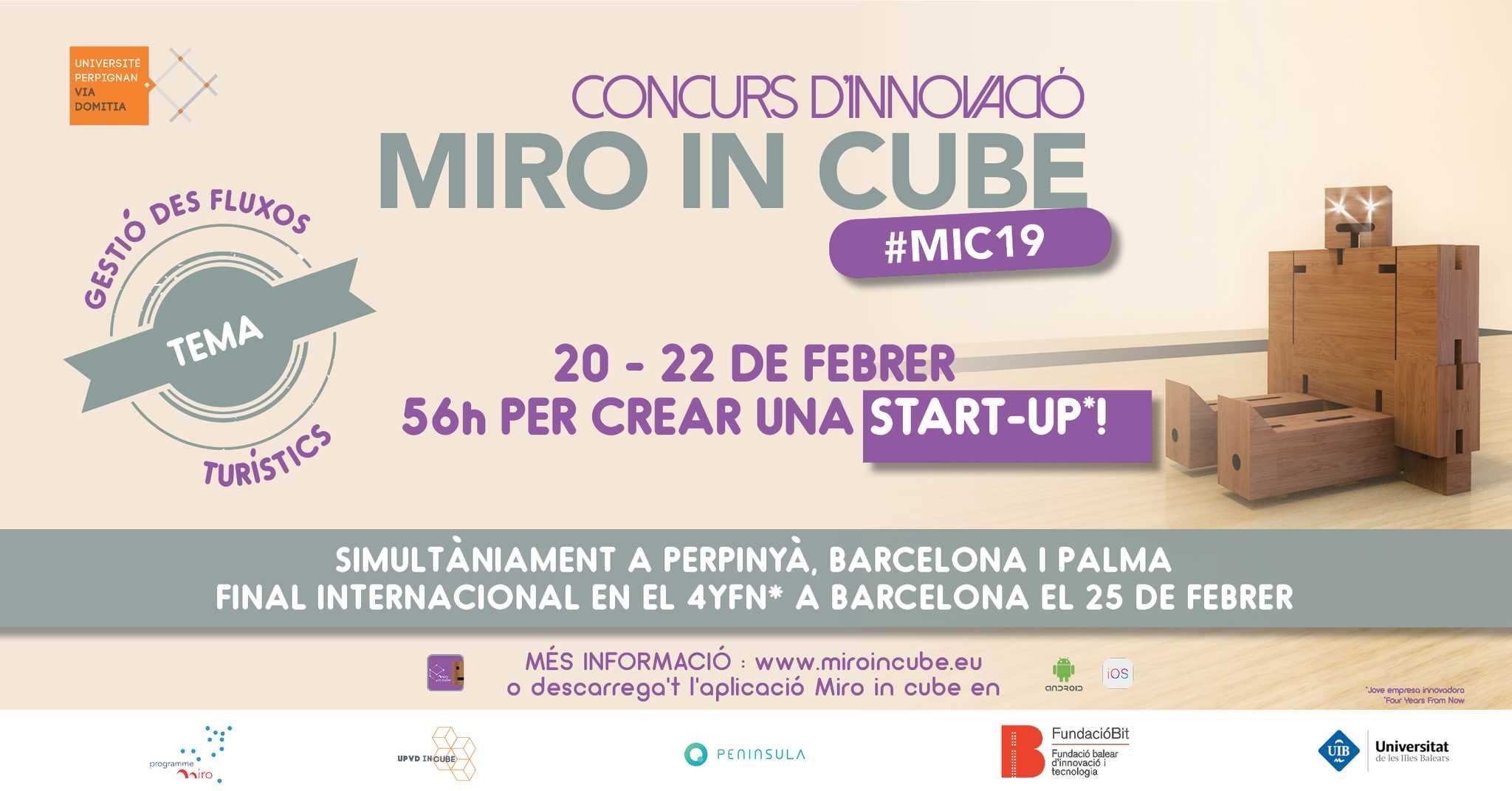 Imagen del evento MiroInCube 2019: concurso de ideas innovadoras en turismo y movilidad