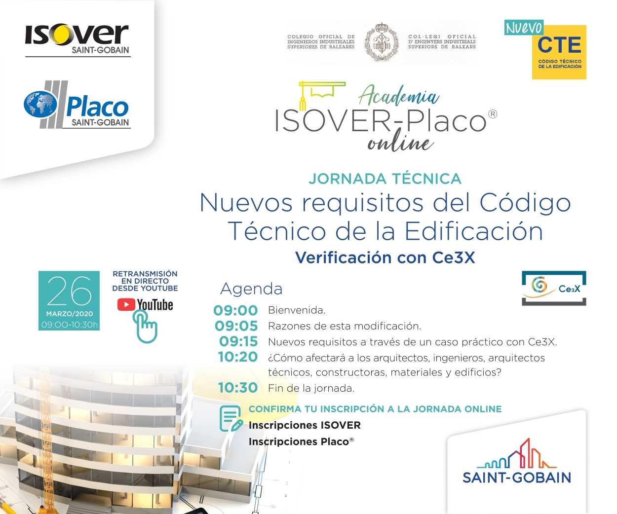 Imagen del evento JUEVES 26/03 YOUTUBE 9:00 h. JORNADA NUEVOS REQUISITOS DEL CTE Y COMO VERIFICARLOS CON CE3X